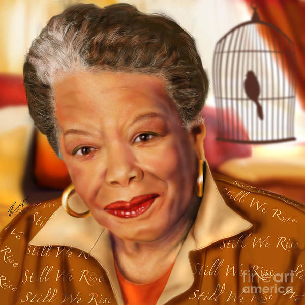 Maya Angelou Rise Of The Song Bird Art Print