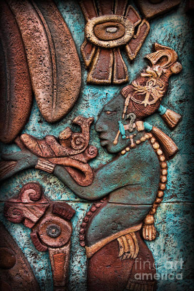 Wall Art - Photograph - Mayan Hieroglyphs II by Lee Dos Santos