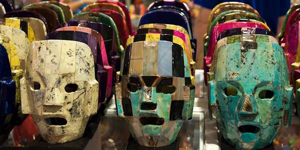 Photograph - Mayan Masks by Sandy Scharmer