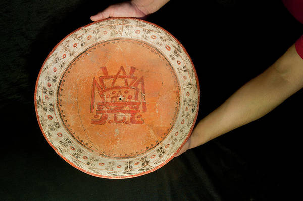 Wall Art - Photograph - Mayan Plate by Marco Ansaloni / Science Photo Library