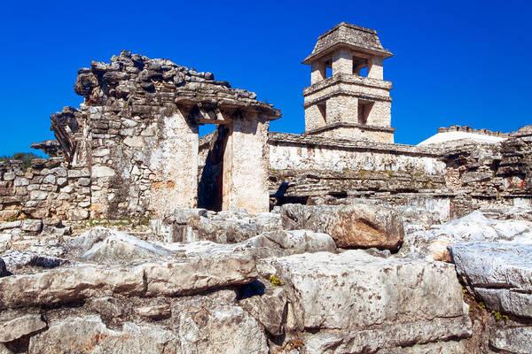 Wall Art - Photograph - Mayan Ruins Of The Palacio At Palenque by Mark Tisdale