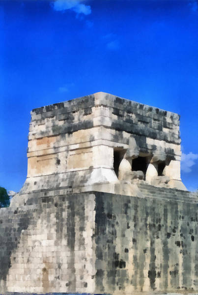 Chichen Digital Art - Mayan Ruins by Roy Pedersen