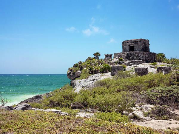Quintana Roo Photograph - Mayan Temple by Daniel Sambraus/science Photo Library