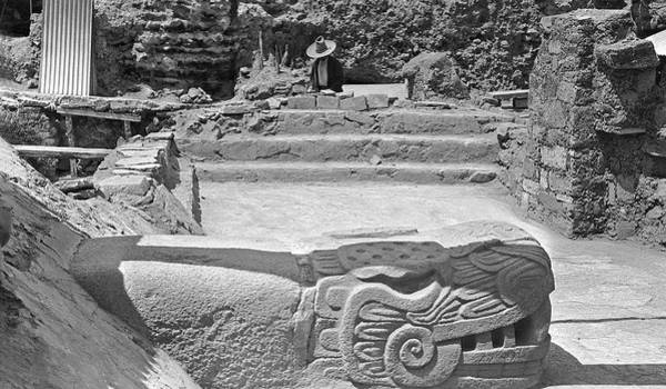 Stone Carving Photograph - Mayan Temple Excavation by American Philosophical Society
