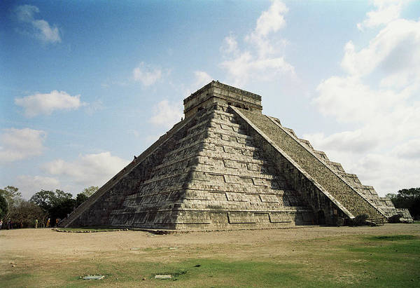 Chichen Itza Photograph - Mayan Temple by Martin Riedl/science Photo Library