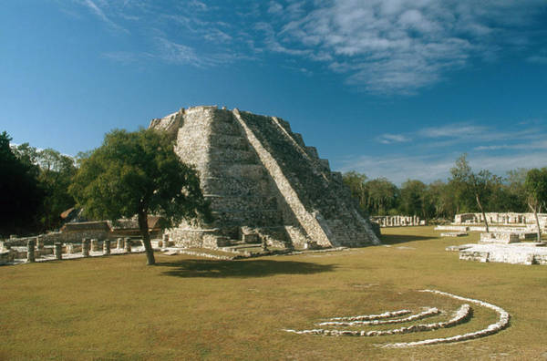 Kukulcan Photograph - Mayapan, Mexico by C.r. Sharp