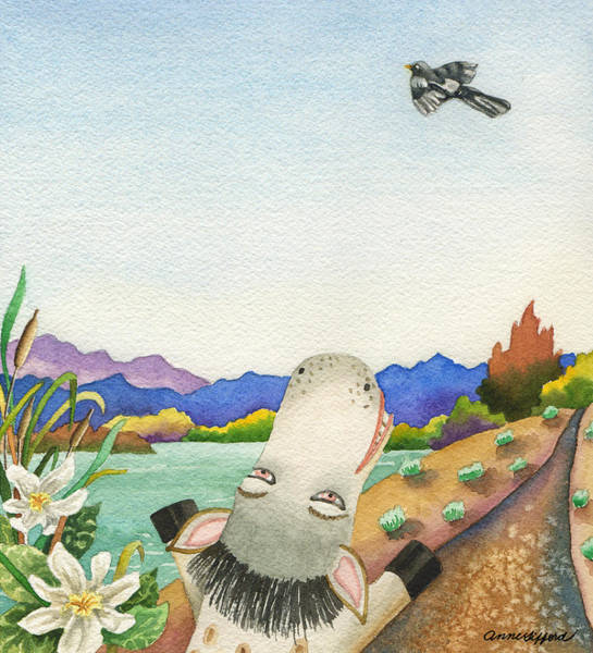 Painting - Maybe Spike Can Fly by Anne Gifford