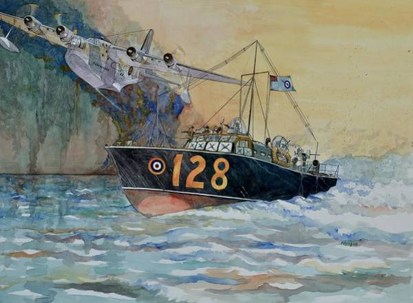 Sunderland Wall Art - Painting - Mayday Mayday by Ray Agius