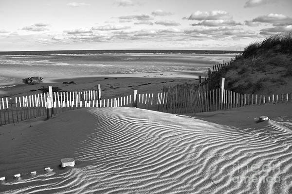 Photograph - Mayflower Beach Black And White by Amazing Jules