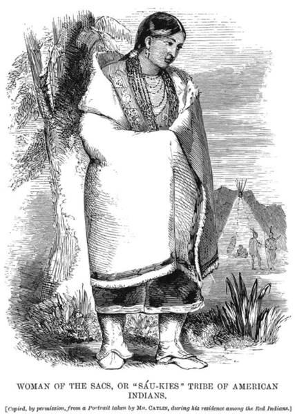 Native American Blanket Painting - Mayhew Sac, C1861 by Granger