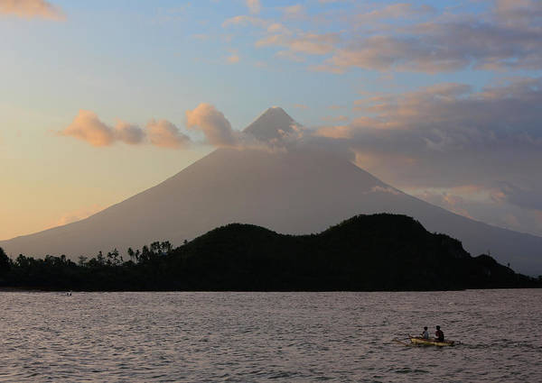 Outing Photograph - Mayon Volcano At Sunset, Legazpi City by Per-Andre Hoffmann