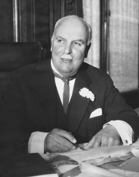 Carnation Photograph - Mayor James sunny Jim Rolph by Underwood Archives