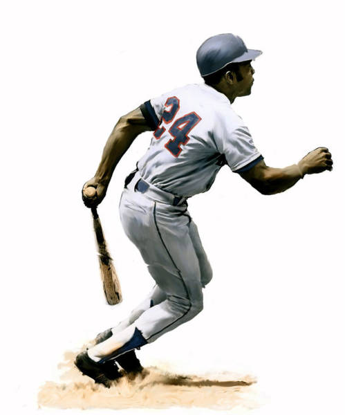 Painting - Mays  Willie Mays by Iconic Images Art Gallery David Pucciarelli