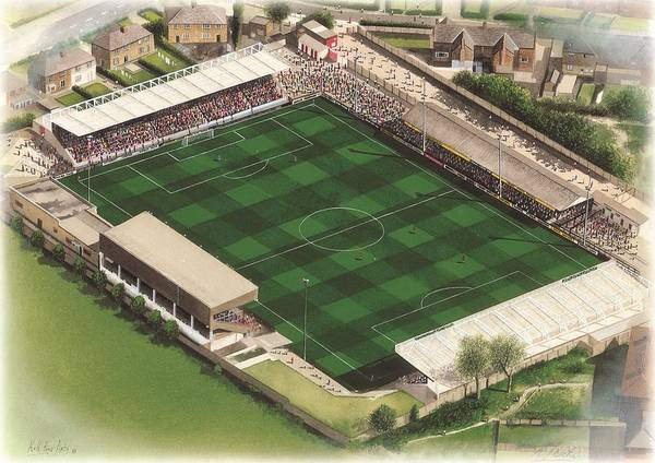 Wall Art - Painting - Mccain Stadium - Scarborough by Kevin Fletcher