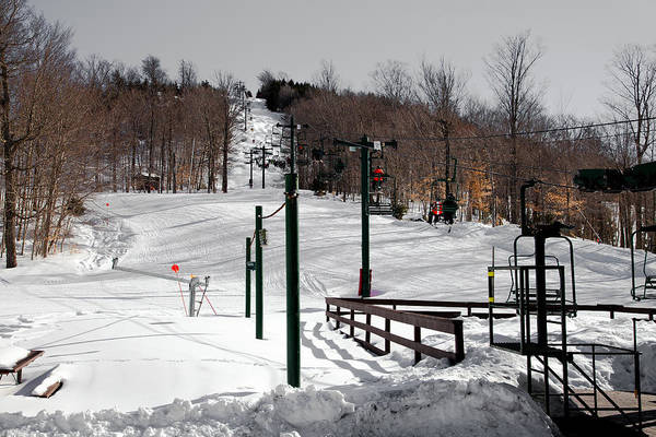 Photograph - Mccauley Mountain Ski Area Vi- Old Forge New York by David Patterson