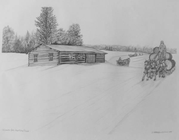 Wall Art - Drawing - Mccauslin Brook Depot Camp by Kathleen Barlament