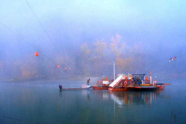 Thompson River Photograph - Mcclure Ferry by Theresa Tahara