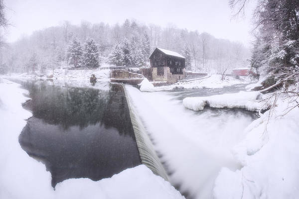 Photograph - Mcconnell's Mill Winter  by Emmanuel Panagiotakis