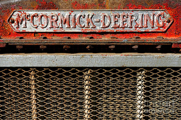 Manufacturers Photograph - Mccormick Deering  by Olivier Le Queinec