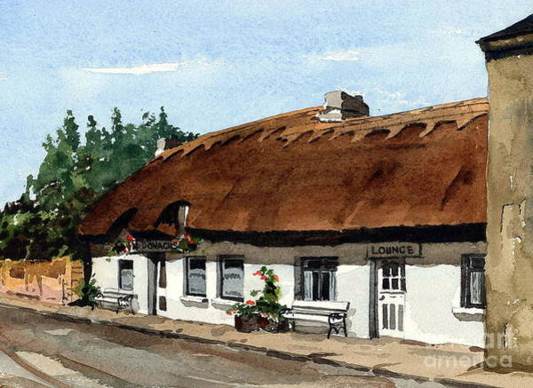 Painting - F 709 Mcdonaghs Pub  Oranmore Galway by Val Byrne