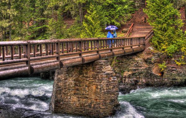 Photograph - Mcdonald Creek Bridge by Lee Santa