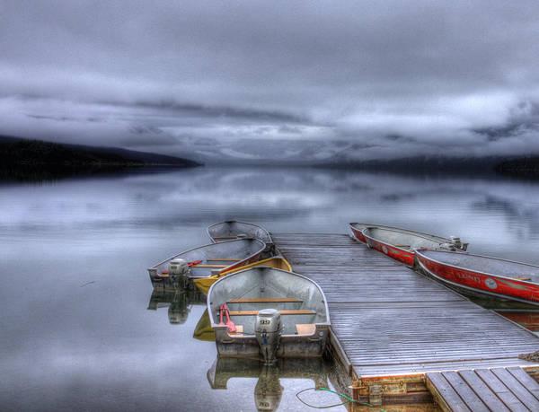 Photograph - Mcdonald Lake Boat Dock1 by Lee Santa