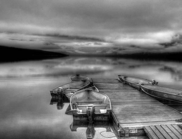 Photograph - Mcdonald Lake Boat Dock2 by Lee Santa