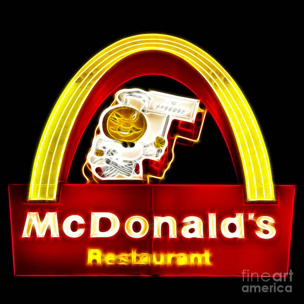 Photograph - Mcdonalds - Electric by Wingsdomain Art and Photography