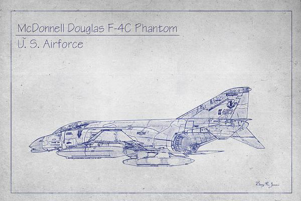 Photograph - Mcdonnell F-4c Phantom by Barry Jones