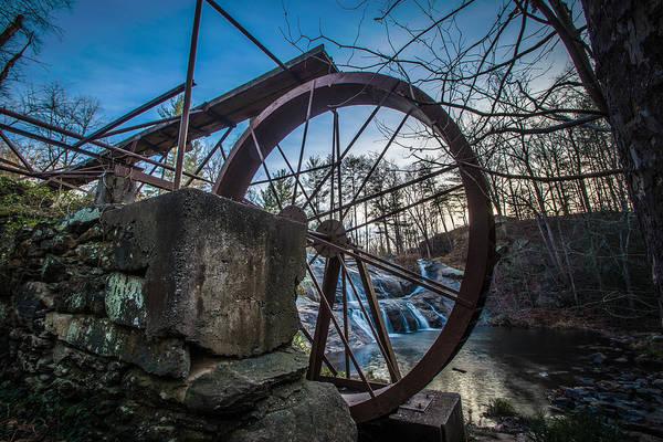 Photograph - Mcgalliard Falls Water Wheel by Randy Scherkenbach