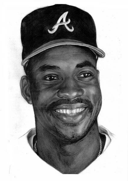 Baseball Player Wall Art - Drawing - Mcgriff by Harry West