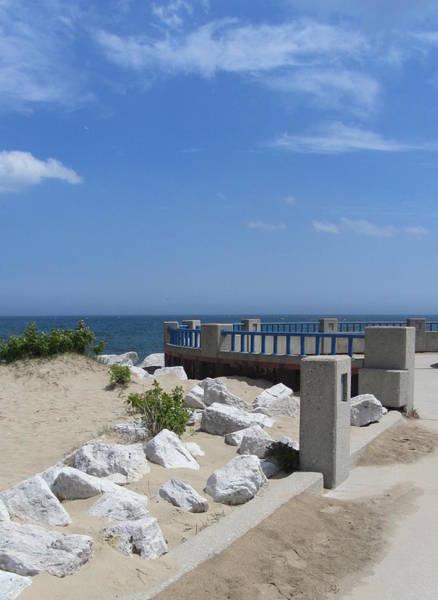 Photograph - Mckinley Beach Pier 1 by Anita Burgermeister