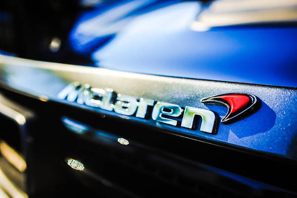 Photograph - Mclaren 12c Spider Rear Emblem -0143c by Jill Reger