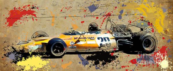 Formula 1 Digital Art - Mclaren 1971 Formula 1 by Drawspots Illustrations