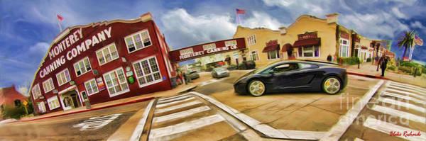 Photograph - Lamborghini Cannery Row Monterey Long  by Blake Richards