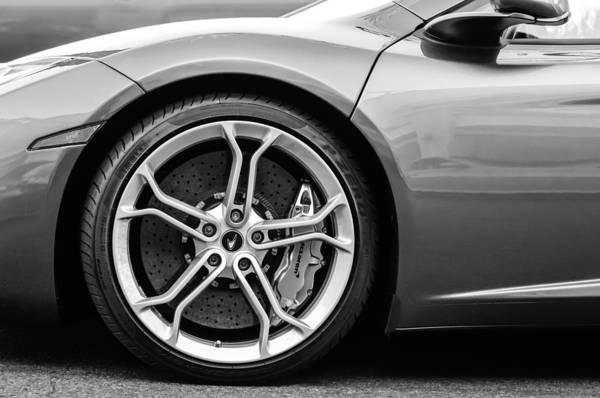 Photograph - Mclaren Wheel -0689bw by Jill Reger