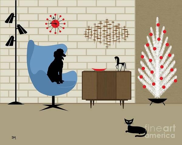 Digital Art - Mcm Poodle by Donna Mibus