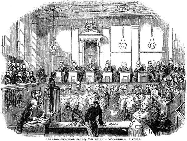 Murderer Painting - Mcnaghten Trial, 1843 by Granger