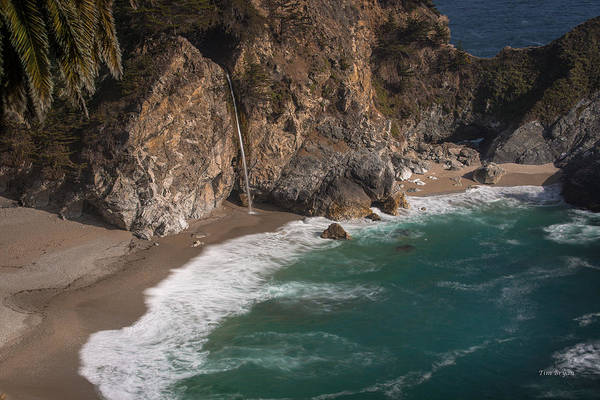 Photograph - Mcvay Falls... Big Sur  by Tim Bryan