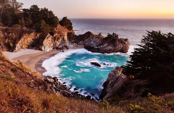Photograph - Mcway Falls, Big Sur by Alexis Birkill