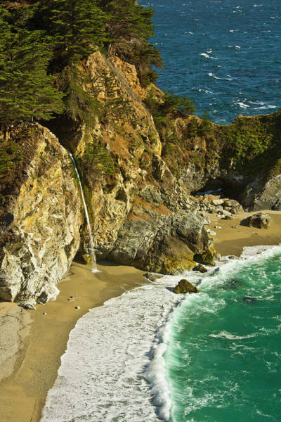 Big Sur Photograph - Mcway Falls, Julia Pfeiffer Burns State by Michel Hersen
