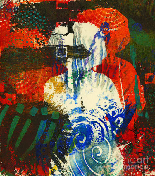 Monotype Mixed Media - Me And My Shadow Have Plans For This Life by Angela L Walker
