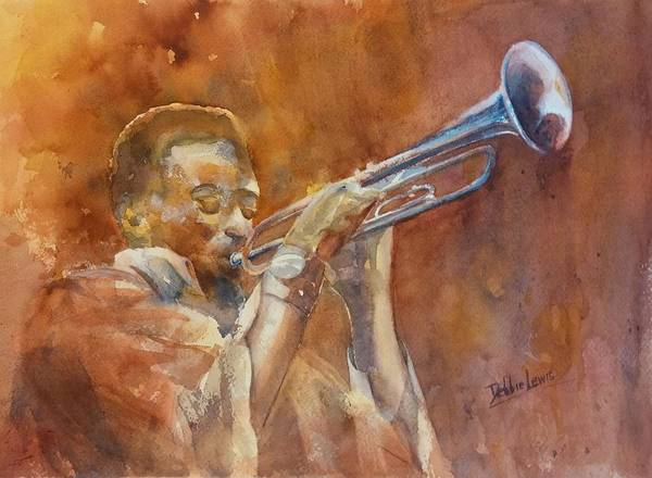 Painting - Me And My Trumpet by Debbie Lewis