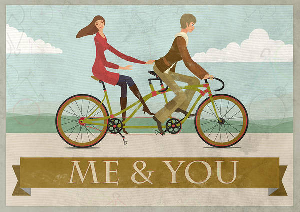 Valentines Digital Art - Me And You Bike by Andy Scullion