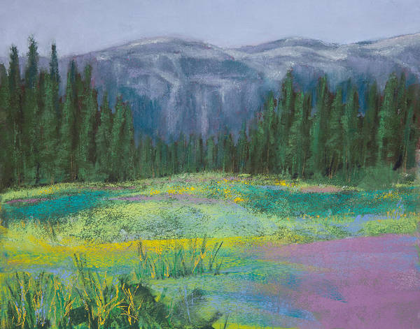 Wall Art - Painting - Meadow In The Cascades by David Patterson
