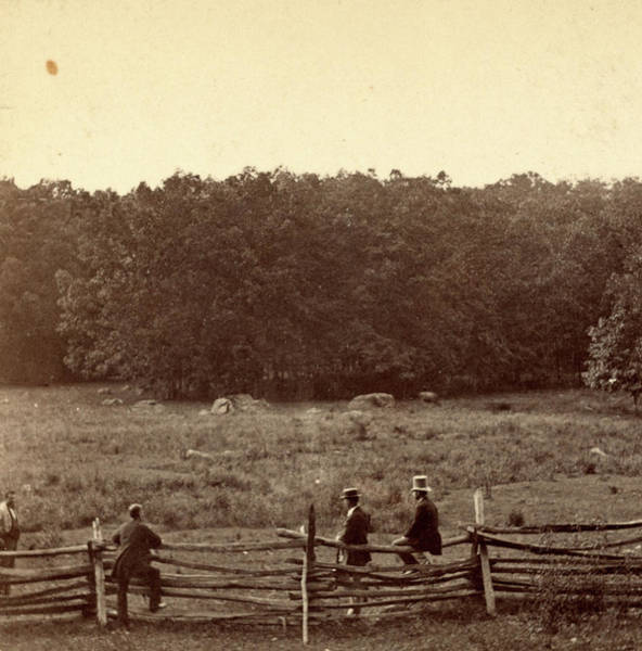 Wall Art - Photograph - Meadow Over Which The 2d Mass. And 27th Indiana Charged by Litz Collection