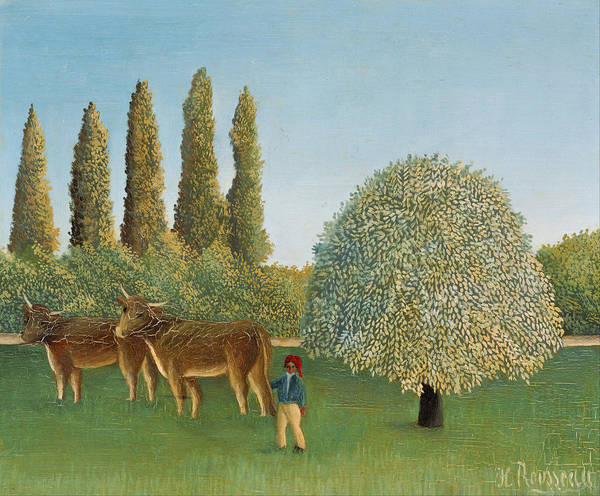 Painting - Meadowland by Henri Rousseau
