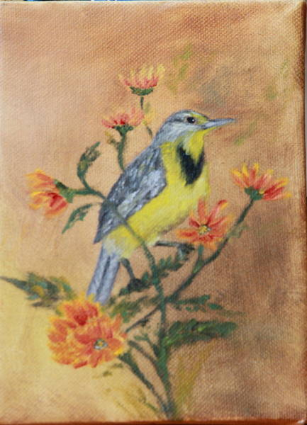 Meadowlark Painting - Meadowlark by DG Ewing