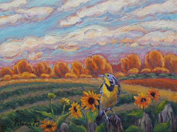 Meadowlark Painting - Meadowlark Morning by Gina Grundemann