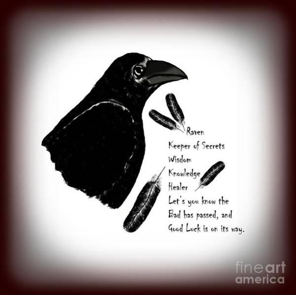 Wall Art - Photograph - Meaning Of Raven by Eva Thomas